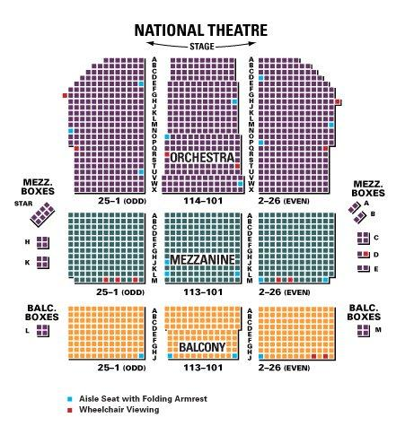 Jersey boys washington dc tickets seating chart across the usa