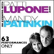 Evening with Patti LuPone and Mandy Patinkin Tickets Broadway